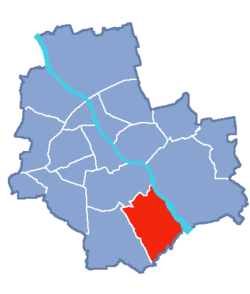 Location of Wilanów within Warsaw