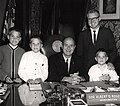 Washington State Governor Albert Rosellini with Charles Odegaard family, 1964.jpg