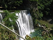 Waterfall in Jajce Bosnia