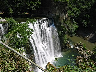 Federation of Bosnia and Herzegovina - Image: Waterfall in Jajce Bosnia