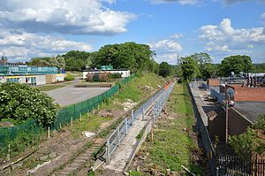 Watford Stadium Halt railway station - Image: Watford Stadium May 2014
