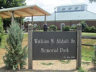 Watkins Moorman Abbitt - Watkins M. Abbitt, Sr., Memorial Park in Appomattox, Virginia