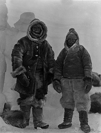 Alfred Wegener - Wegener (left) and Villumsen (right) in Greenland; November 1, 1930.