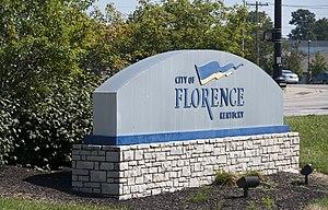 Florence, Kentucky - Image: Welcome sign to Florence, Kentucky