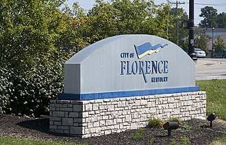 Florence, Kentucky - Image: Welcome sign to Florence, Kentucky