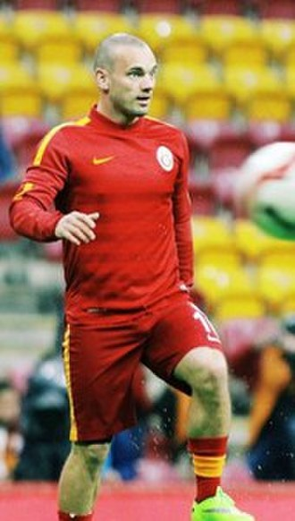 Wesley Sneijder - Sneijder during pre-match training at Galatasaray