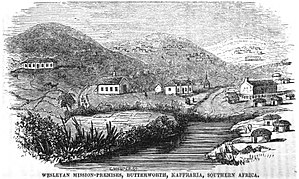Butterworth, Eastern Cape - Image: Wesleyan Mission Premises, Butterworth, Kaffraria, Southern Africa (June 1851, VIII, p.65)