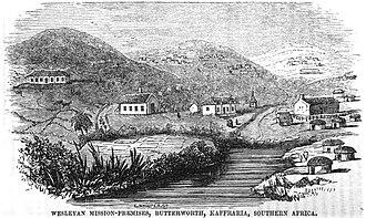 Butterworth, Eastern Cape - Image: Wesleyan Mission Premises, Butterworth, Kaffraria, Southern Africa (June 1851, VIII, p.65)