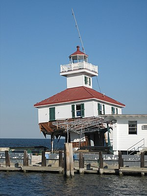 New Canal Light - Image: West End Lighthouse Standing Sorta