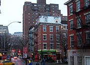 The intersection of West 4th and West 12th Streets in Greenwich Village (W. 12th St., which runs east-west, runs left-right in this picture)