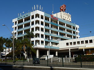 Westfield Miranda - Former office tower, 25 July 2010 (demolished mid-2013)