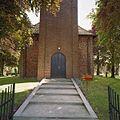 Westgevel met gedeelte van de kerktoren met de ingangspartij - Meedhuizen - 20372745 - RCE.jpg