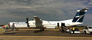 Brandon Municipal Airport - WestJet Encore Q400 at Brandon Airport