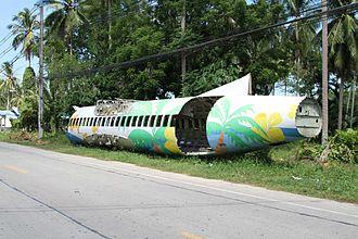 Bangkok Airways Flight 266 - Bangkok Airways 266 ATR72 fuselage, as of August 2013