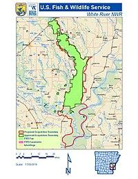 map of white river in arkansas White River National Wildlife Refuge Wikipedia map of white river in arkansas