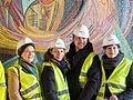 """Wiederentdeckung des Otto-Freundlich-Mosaik """"Die Geburt des Menschen""""-8741.jpg"""