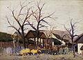 Wilhelm Sprenger Pferdekarren in einem Bauernhof.jpg