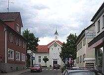 Wilhelmsdorf Württemberg Blick zum Saalplatz Betsaal 2005.jpg