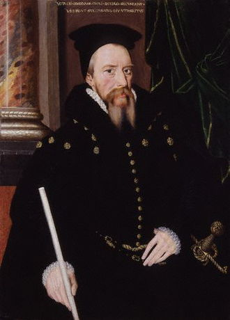 Edward de Vere, 17th Earl of Oxford - William Cecil, 1st Baron Burghley, the Queen's Secretary of State and De Vere's father-in-law, c. 1571.