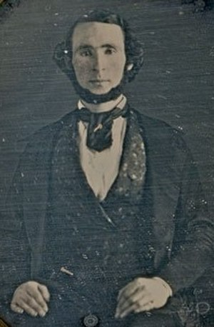 William Wallace Smith Bliss - Daguerreotype by unknown photographer, circa 1848.