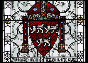 William Giffard - Victorian-era reconstruction of the coat of arms of William Giffard, from the Winchester Great Hall