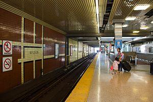 Wilson station (Toronto) - Image: Wilson platform 01