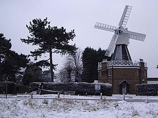 windmill on Wimbledon Common in London, England