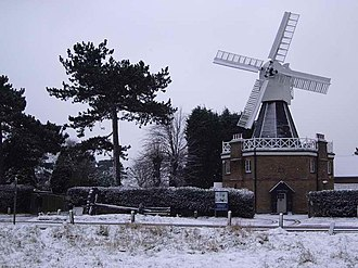 Wimbledon Common - The windmill on Wimbledon Common in February 2005