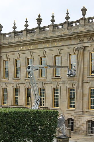 Window cleaner - Window cleaning at Chatsworth House