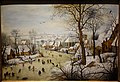 Winter Landscape with Bird Trap, by Pieter Brueghel the Younger, late 1500s to early 1600s, oil on panel - National Museum of Western Art, Tokyo - DSC08409.JPG