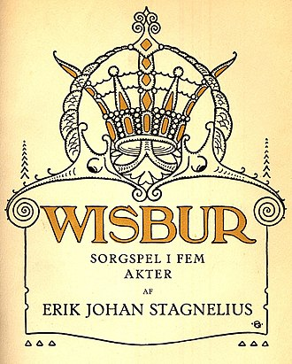 Visbur - Cover of a play by Erik Johan Stagnelius about the legend of Wisbur