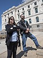 Woman and man with fire arms at a rally against gun control at the Minnesota State Capitol.jpg