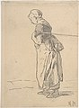Woman pulling a tow rope. verso- sketch of landscape with figures MET DP800468.jpg