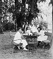 Women, kid, garden furniture Fortepan 24945.jpg