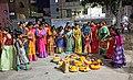 Women Celebrates Bathukamma With their Children.jpg