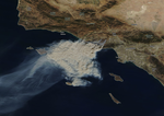 Woolsey Fire satellite image November 9, 2018.png
