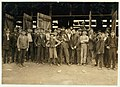 Workers in More-Jones Glass Co., Bridgeton, N.J. Small boy in middle is Harry Simpkins, 52 South Ave. (dirty, noisome conditions). See him in photos 978 & 979. LOC nclc.01228.jpg