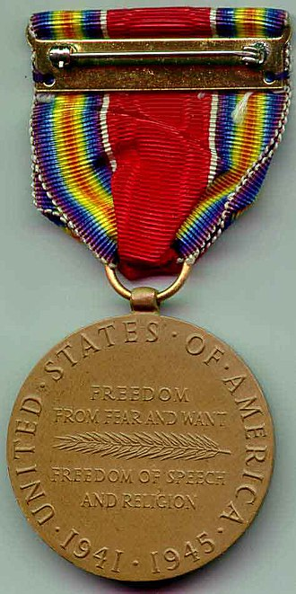 World War II Victory Medal (United States) - Image: World War II Victory Medal rev