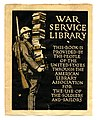 World War I, War Service Library Bookplate, 1918 (5682763252).jpg