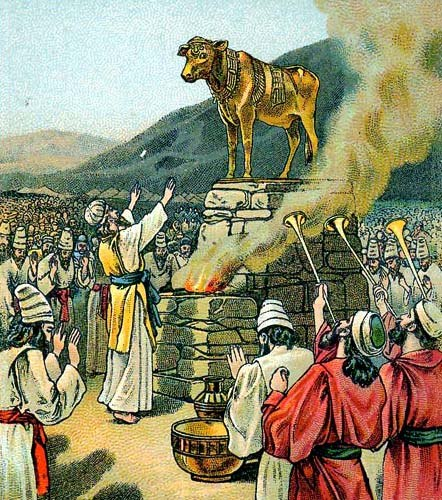 Worshiping the golden calf