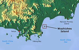 Wuzhizhou Island - Image: Wuzhizhou Island map 01