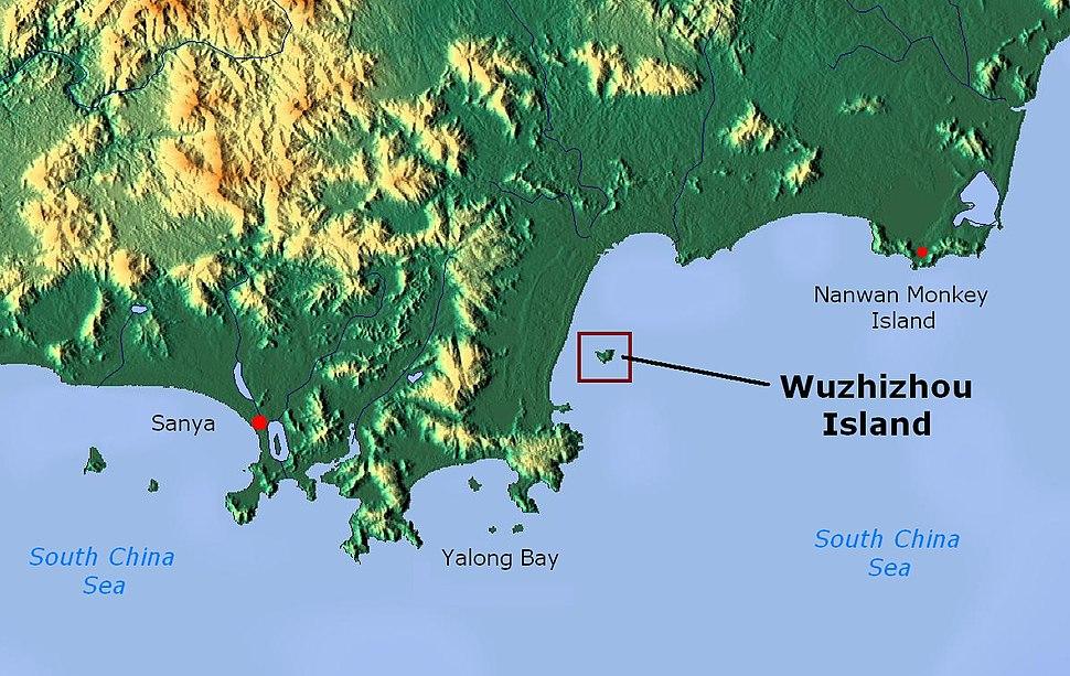 Wuzhizhou Island - map 01