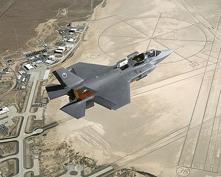 X-35B flying over Edwards Air Force Base