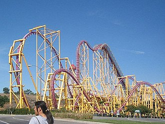 X2 (roller coaster) - An overview of the track when the ride was known as X.