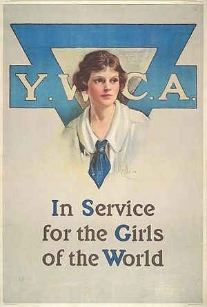 YWCA USA - Neysa Moran McMein (1888-1949) Y.W.C.A. In Service for the Girls of the World, Poster, 1919