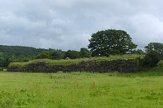 Y Gaer - Image: Y Gaer Brecon North Wall