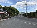 Yamaguchi Prefectural Road No.295 on east side of Shizuki-Kohashi Bridge.jpg