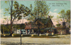 "Postcard of the former ""Ye Olde Anchorage Inn."""