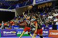 Yonex IFB 2013 - Quarterfinal - Tian Qing - Zhao Yunlei vs Misaki Matsutomo - Ayaka Takahashi 05.jpg