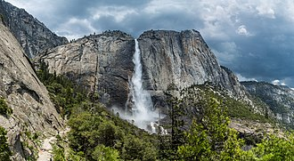 Yosemite Falls - Upper Yosemite Fall as viewed from the trail leading to the top